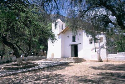 La iglesia de Purmamarca, 65 kilómetros al norte de San Salvador de Jujuy.