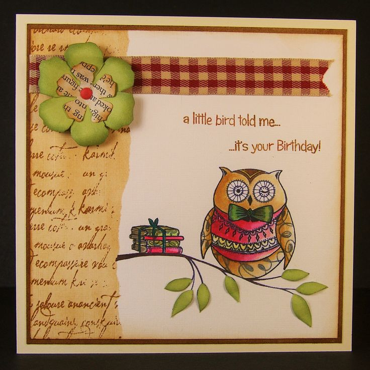 Designed by Allison Hugill using Little Claire digi Book Owl stamp