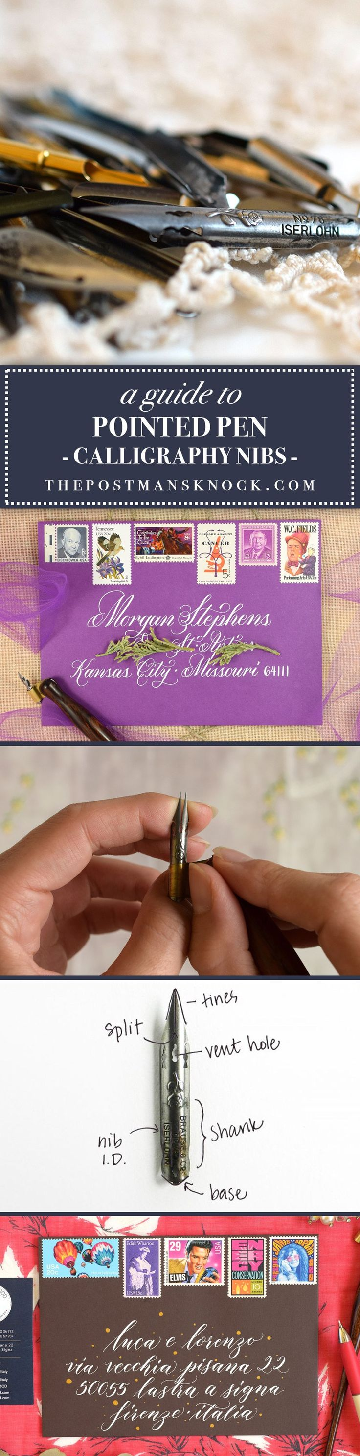 A Guide to Pointed Pen Calligraphy Nibs   The Postman's Knock
