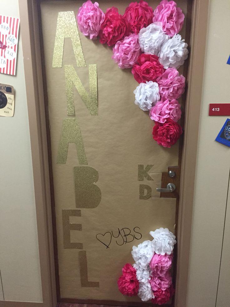 Big little reveal door! Kappa delta sorority UNIVERSITY OF ARKANSAS