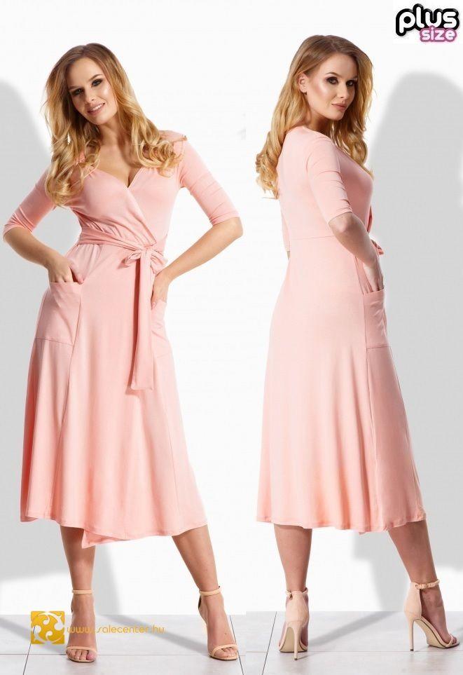 74dbd10058 V kivágású maxi ruha zsebbel 4 színben (S-M,L-XL,2XL-3XL) ekkor: 2019 | Női  divat | Bridesmaid dresses, Dresses és Wedding dresses