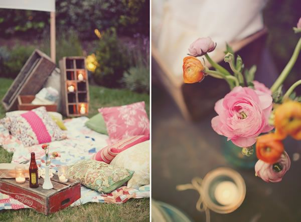 Vintage Style Hen Parties, garden cinema party