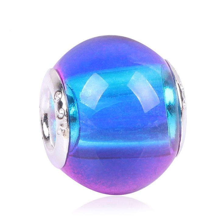Gradient Rainbow New Arrive Gradient European Fashion Charms Murano Glass Beads Fit Pandora Style Charms Bracelets For Women