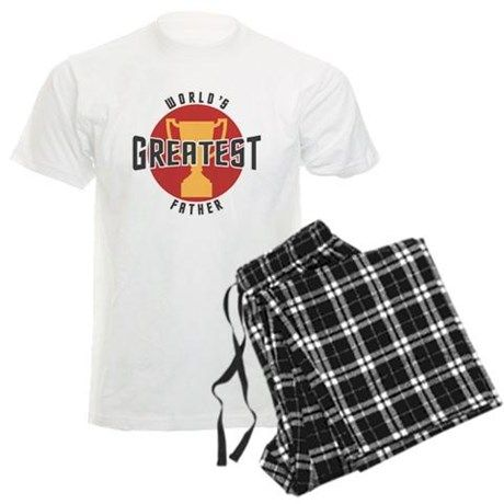 WORLDS GREATEST FATHER pajamas on CafePress.com.com #fathers #dad #fathersday