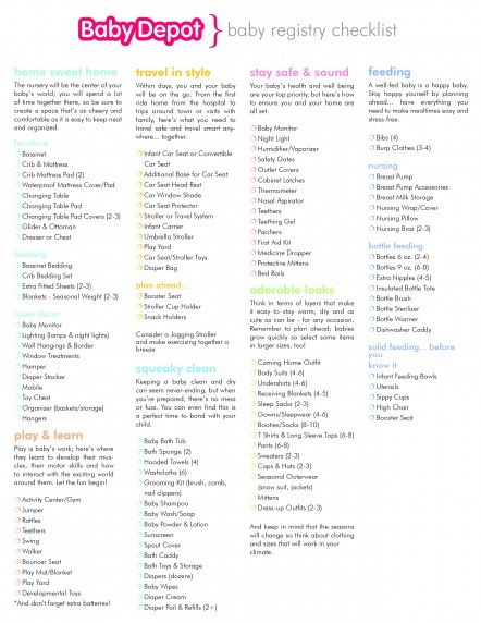 Baby Shower Registry Example And Baby Shower Registry