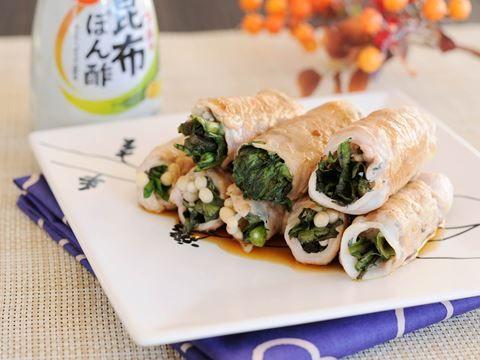 春菊とえのきの豚肉ロール  https://recipe.yamasa.com/recipes/1885