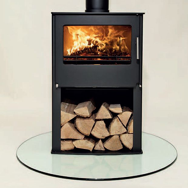 7KW Westfire Two with Pedestal Multi Fuel Stove | Buy Modern Multi Fuel Stoves Online | UK Stoves
