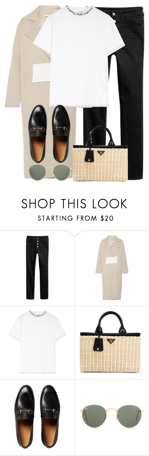 """""""Untitled #3341"""" by elenaday on Polyvore featuring Rejina Pyo, Acne Studios, Prada, Gucci and Ray-Ban"""