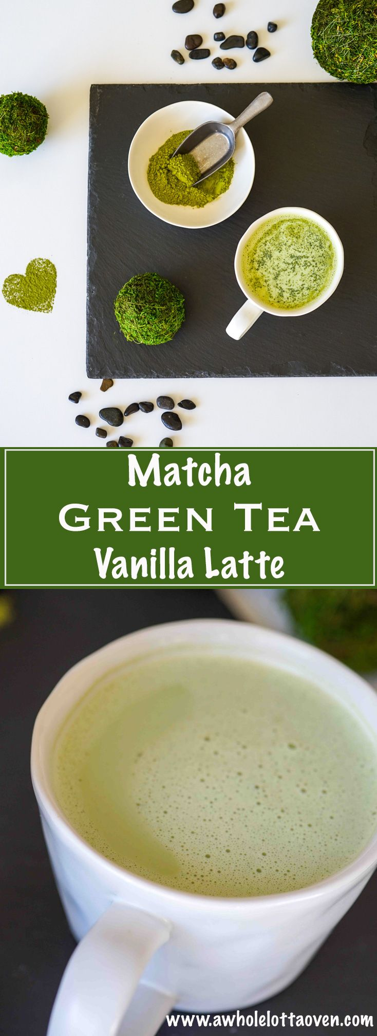 Matcha Green Tea Vanilla Latte - A Whole Lotta Oven