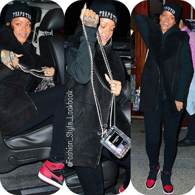 #riri #rihanna #badgalriri #chanel #chanelbag #chanelclutch #fashion #style #lookbook #shoes #caradelevingne #besties #bff #omg #christianlouboutin #chrisbrown #court #exboyfriend... - Celebrity Fashion