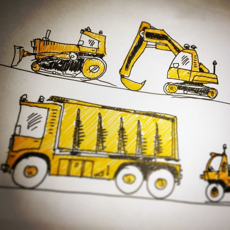tiny and construction machinery... #wip #daily #dailysketch #speedsketch #workinprogress #bulldozer #tinymachines #machine #tinymachinery #drawings #illustration #graphicdesign #sketches #sketchbook #sketch #graphics #graphic #graphicart #kidsroom #giftforkids #sepia #construction #truck #trucks #digger #yellow #orange #unipin