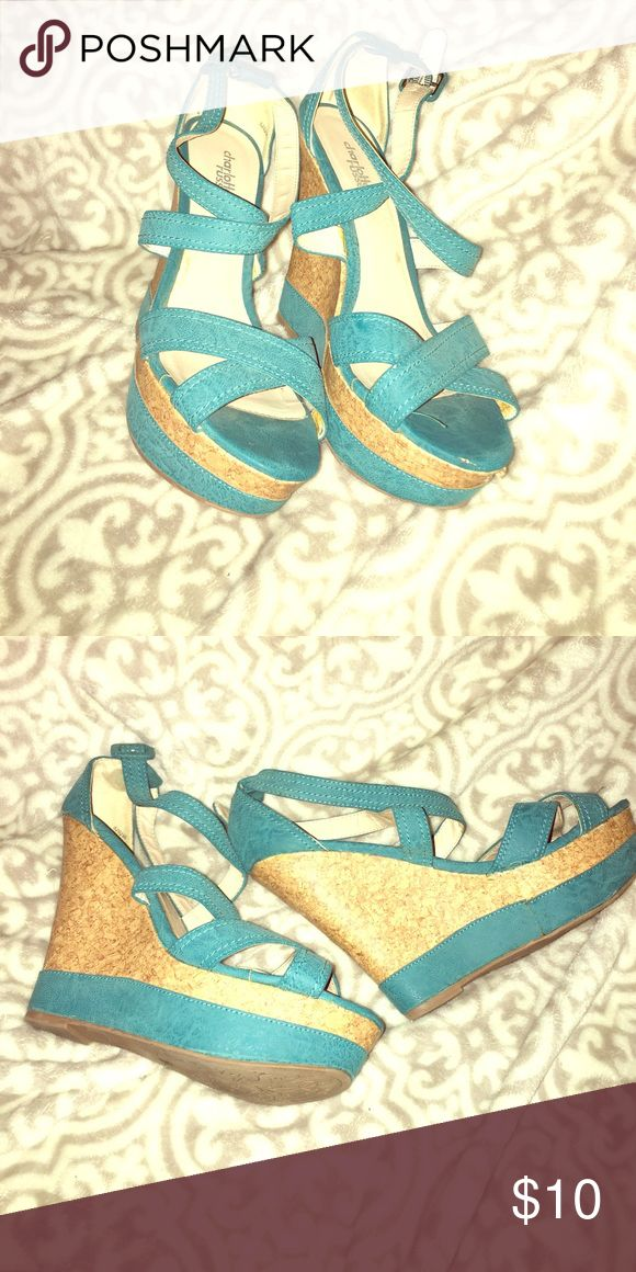 Women's teal wedges Charlotte rouse wedges Charlotte Russe Shoes Wedges