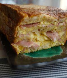 Le Cake Croque Monsieur Une recette rapide, facile et très gourmande !  #recette #cake #croquemonsieur