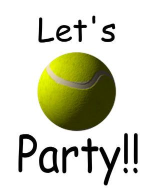 Tennis Party Printable Invitations teen parties - Denise D. Witmer