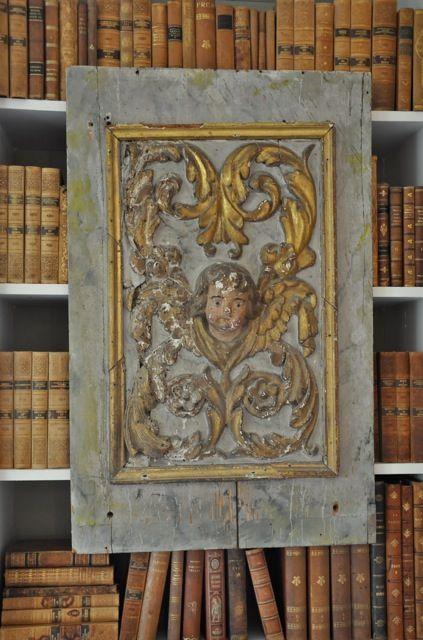 Angel art in wood..