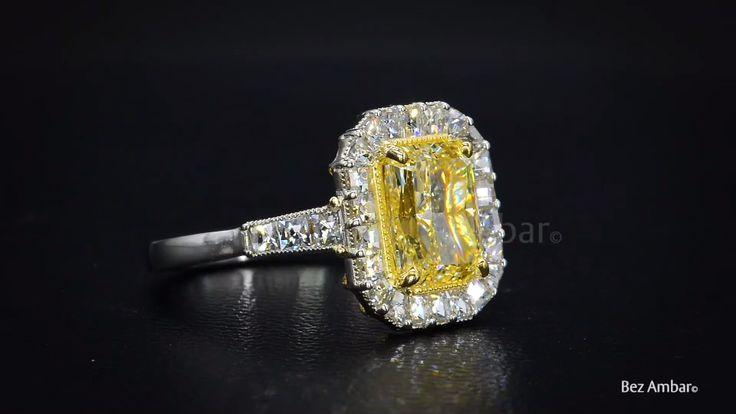Yellow Radiant Diamond from Bez Ambar