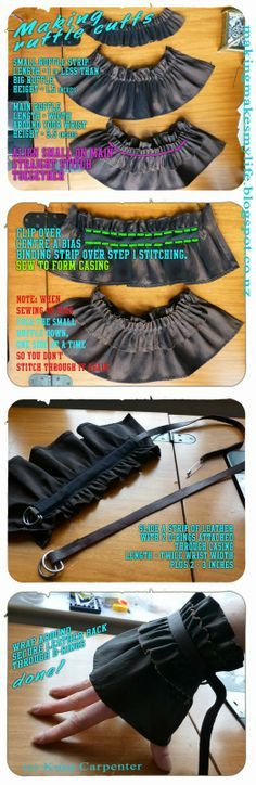 Tutorial: How to sew ruffle cuffs for Steampunk