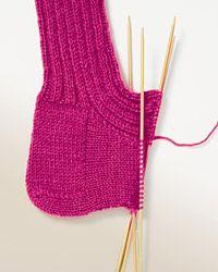 Grundanleitung<br>Bein - Socken-Stricken leicht gemacht