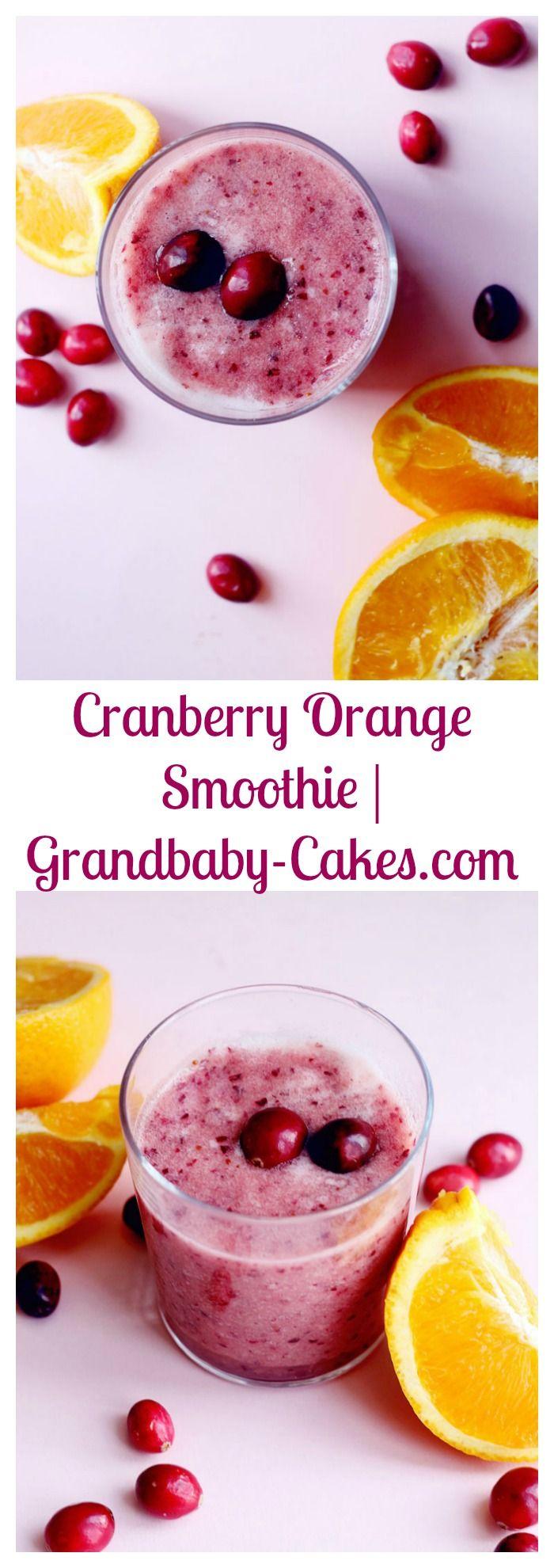 Cranberry Orange Smoothie | Grandbaby-Cakes.com