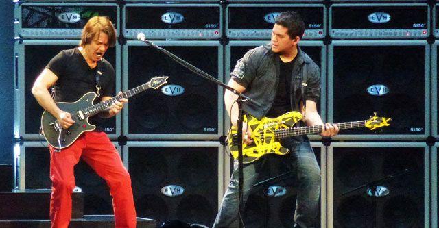 Eddie and Wolfgang Van Halen.