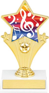 Music Super Star Trophy | Dinn Trophy New! Music super star trophy. Featuring 40 letters of free trophy personalization, this trophy is an unbeatable value ($0.10 per additional character)!
