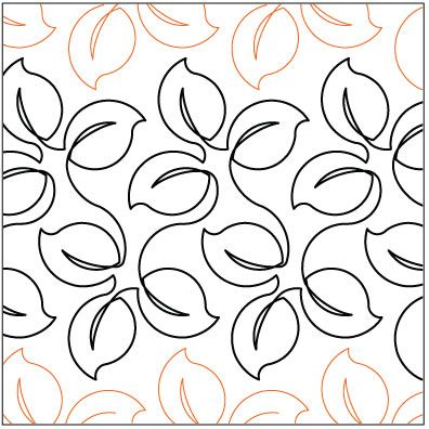 Lush Leaves quilting pantograph pattern by Lorien Quilting