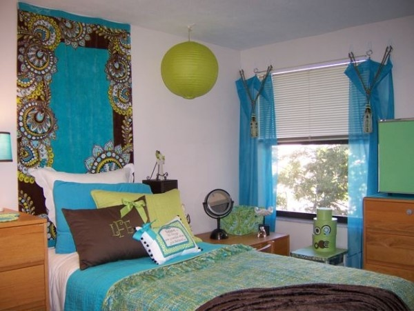 1000 images about turquoise bedroom ideas on pinterest - College dorm room ideas examples ...