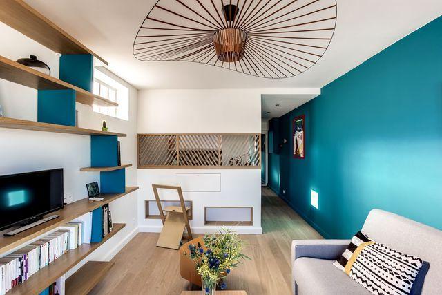 Un 30 m2 qui a tout d'un grand ! Ce bien en enfilade a été entièrement repensé par Carla Lopez et Margaux Meza, les architectes d'intérieur de Transition Interior Design.