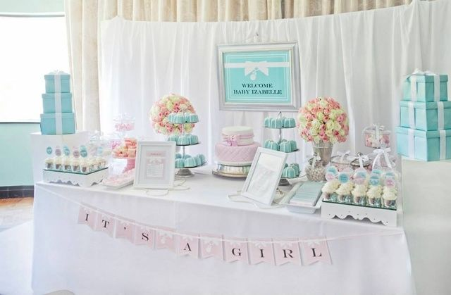 TIFFANY & CO Baby Shower Party Ideas | Photo 21 of 49 | Catch My Party
