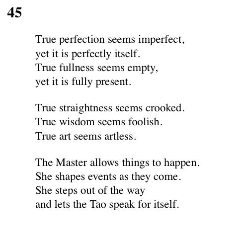 tao te ching thoughts A look at lao tzu and the tao te ching lao tzu is said to have lived in the 6th century bce,  rather than imposing his own thoughts on them.