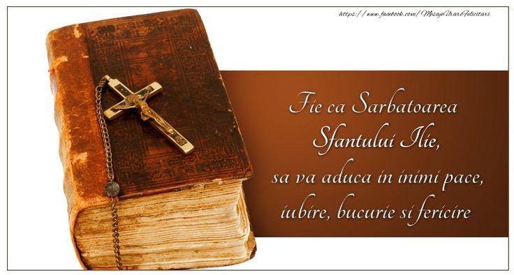Fie ca Sarbatoarea Sfantului Ilie sa va aduca in inimi pace, iubire, bucurie si fericire