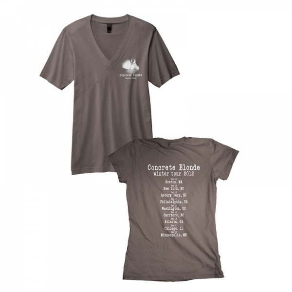 concrete blonde winter 2012 tour shirt t shirts. Black Bedroom Furniture Sets. Home Design Ideas