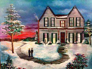 Painting - Winter Peace by Randol Burns
