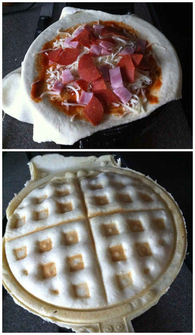 Pizza | 17 Unexpected Foods You Can Cook In A Waffle Iron