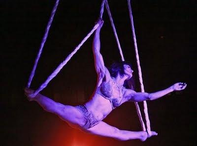 Aerialist Dreya Weber being Cleopatra in 'Hail Caesar!' at Teatro Zinzanni in Seattle, 2011
