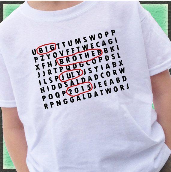 Word Search grote broer Shirt  Big Brother door CustomTeesForTots