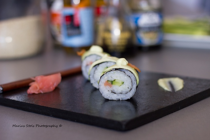 Sushi made during a work shop