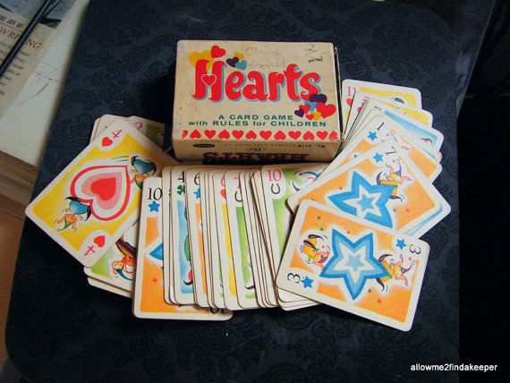 Vintage Hearts Card Game Whitman's 1950 Color by findakeeper