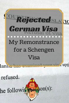 """REJECTED GERMAN VISA REMONSTRANCE. """"I was too confident."""" That's the greatest realization that slapped my face when I received my passport without the stamped of Schengen Visa from the German Embassy. It was my second time to apply for a Schengen Visa in the same Embassy. I thought I was prepared enough and can easily get that visa as smooth as my first application. I was wrong. #SchengenVisa #TravelStories #Germany #TwoMonkeysTravelGroup:"""