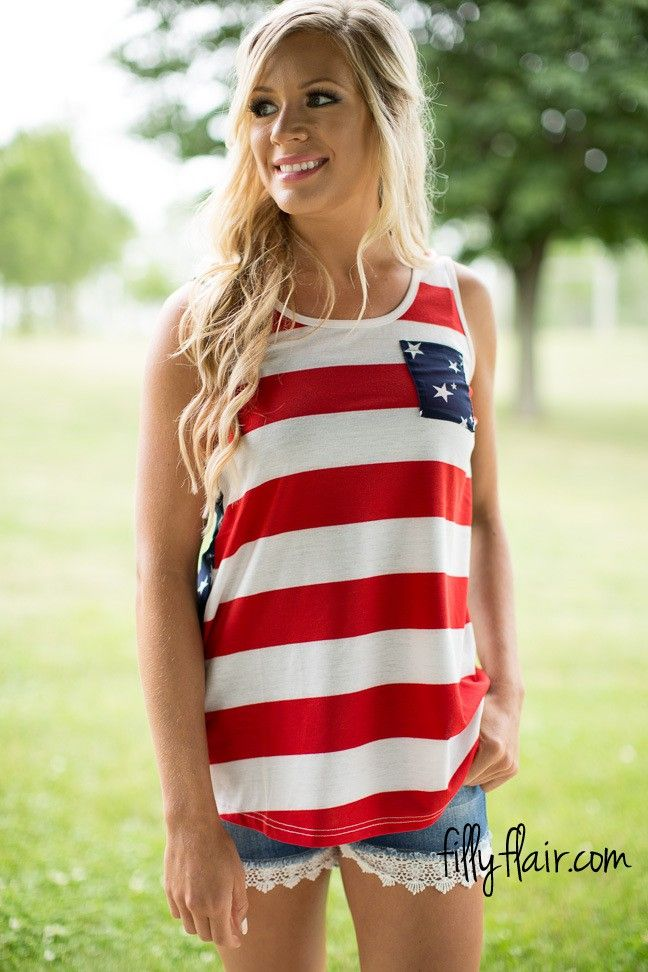Stars and Stripes Tank - Donu0027t miss out on this summer tank top outfit for the of July!  sc 1 st  Pinterest & The 38 best Patriotic Outfits images on Pinterest | 4th of july ...