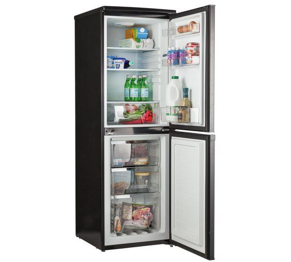 Buy Bush BFFF50152B Fridge Freezer- Black at Argos.co.uk - Your Online Shop for Fridge freezers, Large kitchen appliances, Home and garden.