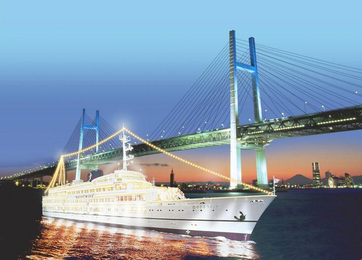 ロイヤルウィング みなとみらい 船 クルージング 横浜 海 ベイブリッジ 夜景