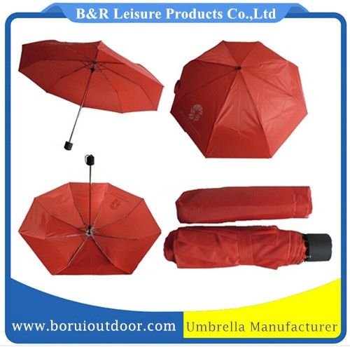Cheap mini umbrellas red 170T nylon metal frame_folding umbrellas wholesale_umbrellas supplier
