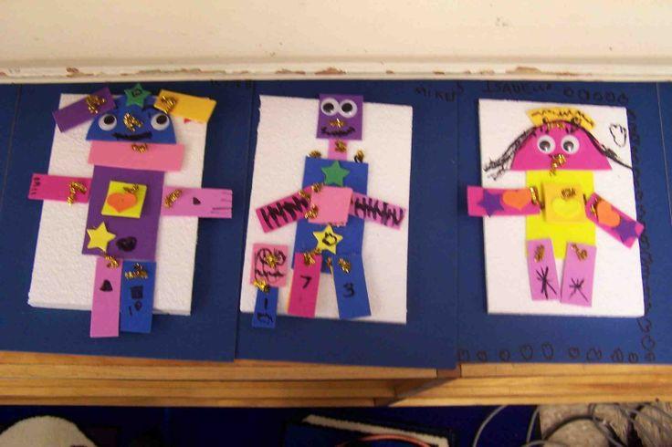 Create Art With Me!: Kindergarten 2D Shape Robots