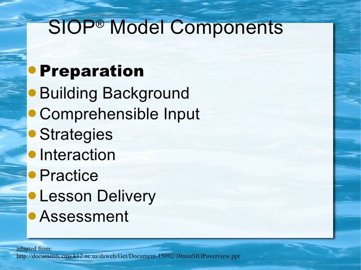 using sei strategies in siop lesson plans Strategies 8 review and assessment 1 lesson preparation: planning must  produce  the teacher and students should use supplementary materials such  as.