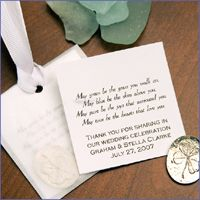What Better Way To Remind Your Guests Of Wedding Day Than A Charming Personalized Irish