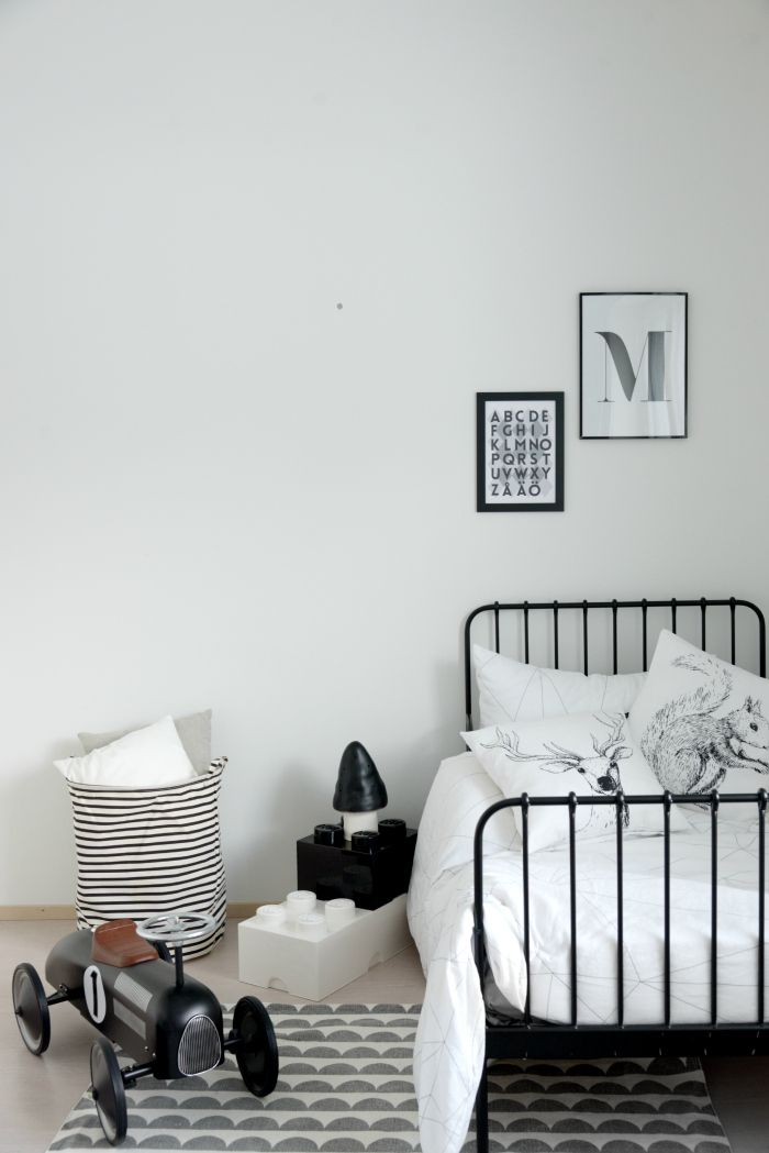 Hein ss heiluvassa black and white bedroom for a boy - Deco chambre enfant vintage ...