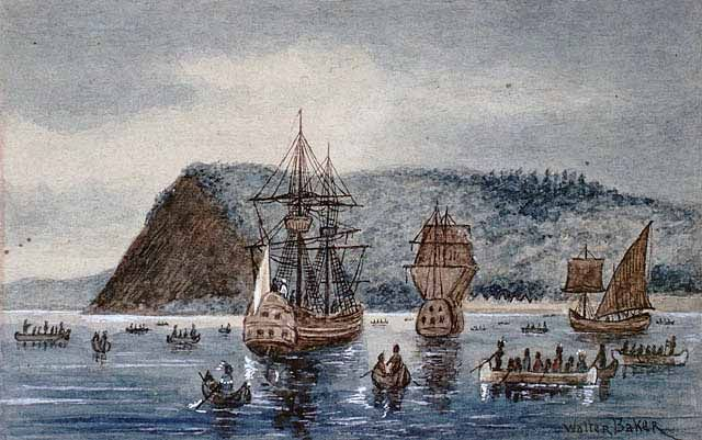 Arrival of Jacques Cartier at Stadacona