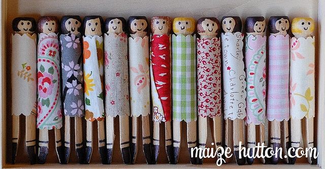 clothes pin dolls - puppets