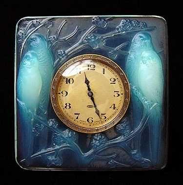 Inseparables (love birds) ~ Lalique clock